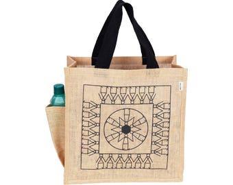 THUMBA Jute/Hessian eco friendly Reusable Shopping Grocery Tote Bag