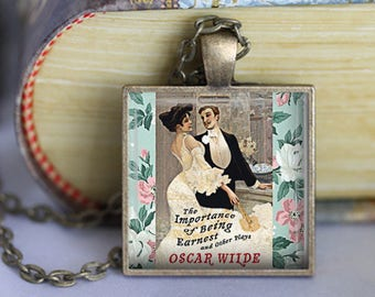 Oscar Wilde Book Necklace Book Jewelry The Importance of Being Ernest Literature Necklace Literature Jewelry Literary Book Lover Gift