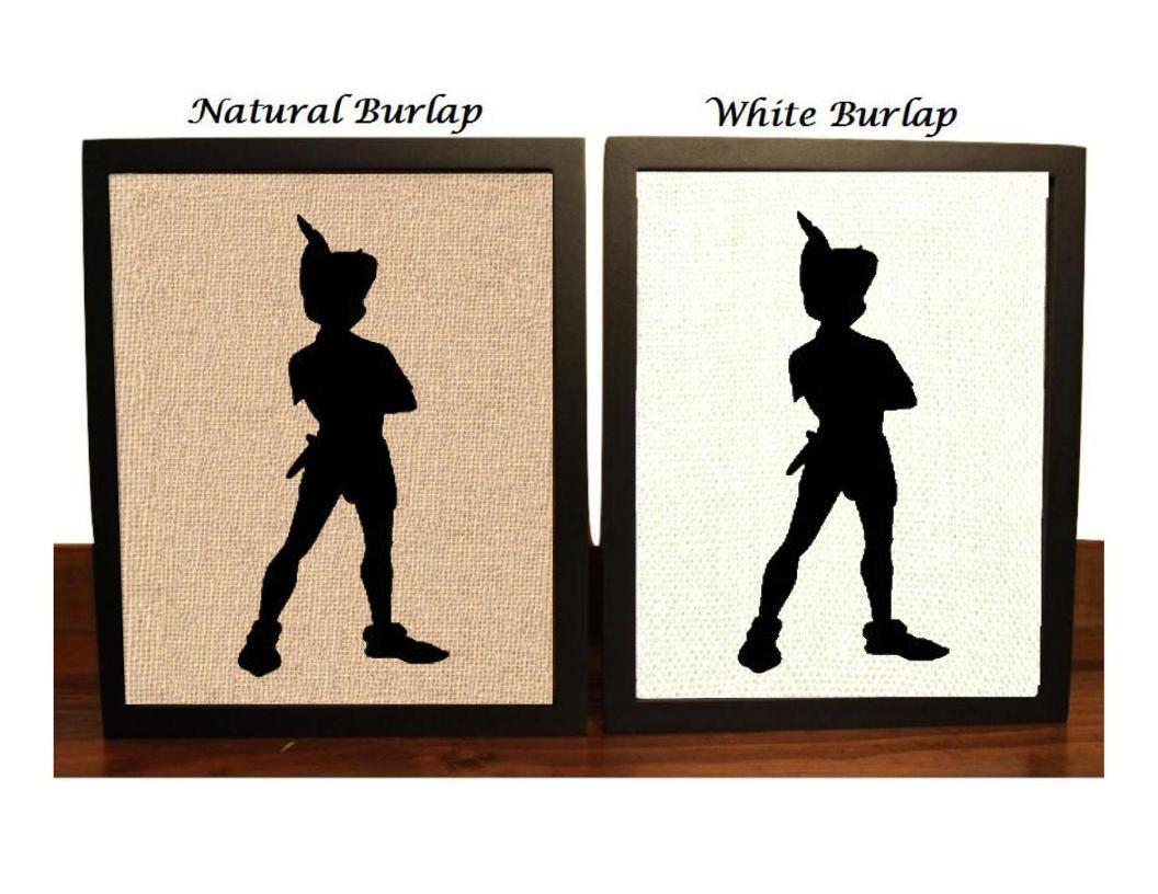 Peter Pan Peter Pan Burlap Print Peter Pan Nursery Print