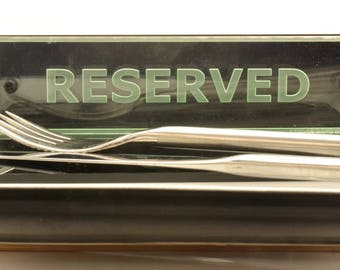 Reserved Table Sign for Restaurants Bars and Cafes (Interior and Exterior Use)