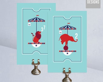 Printable Table Numbers - Circus - Instant Download Table Numbers