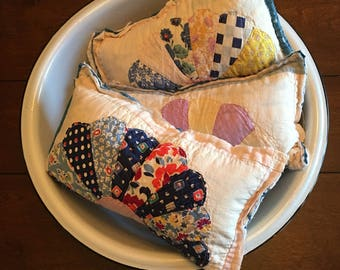 Floral Dresden Quilted Pillow