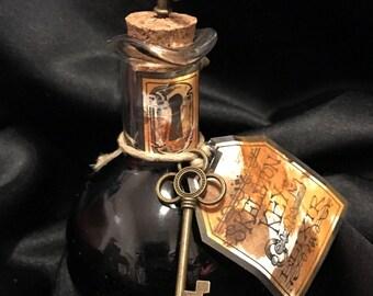 Apothecary Bottle - Skeleton Key Elxir