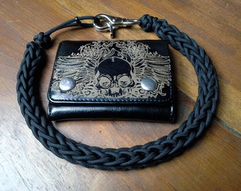 Biker wallet chain etsy for How to make a paracord wallet chain