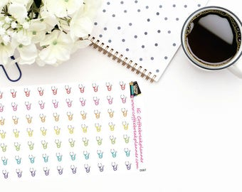 Planner Stickers| Pet Stethoscope Stickers| Pet Doctor Stickers| Pet Care Stickers| Vet Stickers|D067