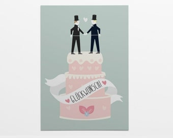 Greeting card with envelope: Gay wedding