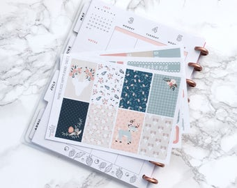 MATTE Classic HP Oh Deer Planner Sticker Kit - For Classic Happy Planners