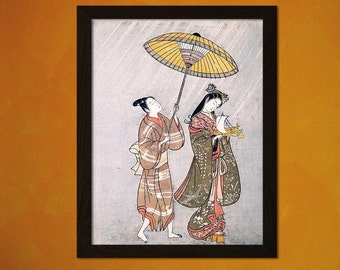 Japanese Art Print Komachi Praying for Rain 1765 Amagoi Komachi Ukiyo-e Fine Art Print Retro Wall Home Design