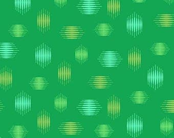 Tattooed in Highline Green by Libs Elliot from Andover Fabrics - 1/2 yard