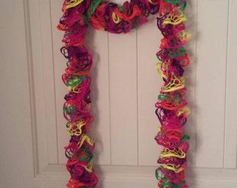 Neon sashay ruffle scarf