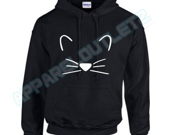 kitten hoody hooded top crazy cat lady kitty food love fashion funny trend hipster swag dope hype high new all colours unisex