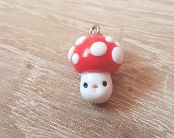 Kawaii Mushroom Charm / Polymer Clay