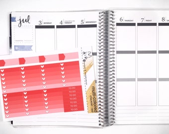 Red Ombre Heart Checklist! Perfect for the Erin Condren Life Planner!