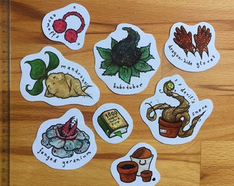 Herbology Sticker Set - Hogwarts Harry Potter Stickers