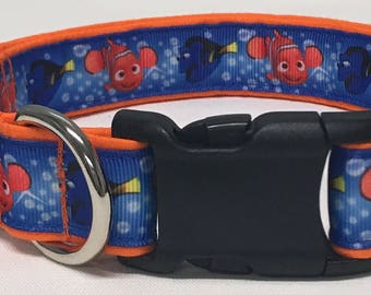 dog collar, nemo, finding nemo, fish, disney inspired, nemo dog collar, nemo collar, disney dog collar, disney collar, walt disney