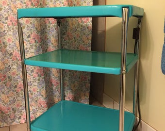 Vintage kitchen/coffee cart with electrical outlet