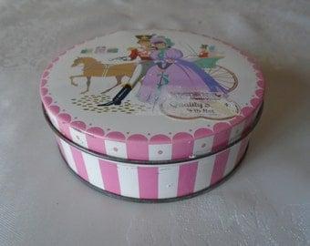 quality street vintage tin candy stripe