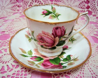 Lovely Vintage Royal Albert ANNIVERSARY ROSE Cup & Saucer.