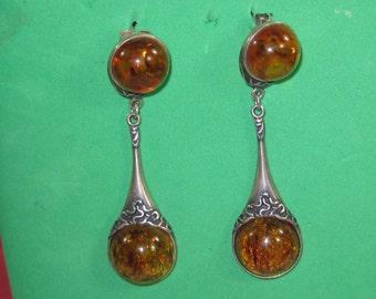 H-18 Vintage Earrings sterling silver