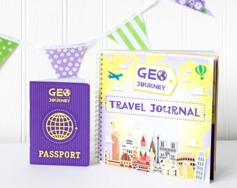 Travel Journal Set, Travel Journal Kids, Travel Diary, Kids Travel Journal, Homeschool, Creative Learning, Unique Travel Gift