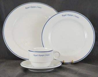 Place Setting from ROYAL OLYMPIC CRUISES - Cruise Ship Ocean Liner Dinnerware