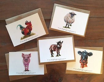 Heart of the Farm Animal - Note Cards Set