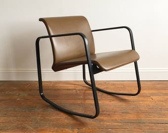 Herman Miller Peter Protzman Leather Rocking Chair