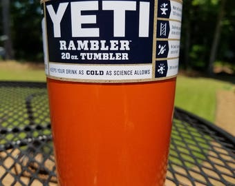 Yeti 20oz Rambler New Orange, Auburn or Tennessee