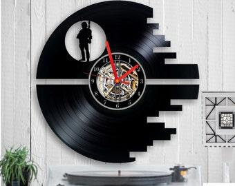 Star Wars vinyl clock Star Wars uhr vinyl uhr vinyl record clock Star wars clock home decor Birthday gift wall clock anniversary gift
