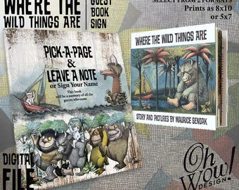 Where the Wild Things Are Guest Book Sign