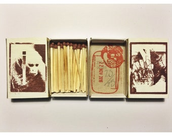 STRIKE - Original screen printed matchbox
