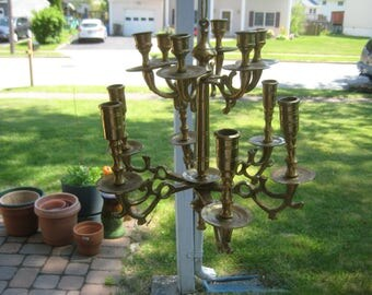 Brass Chandelier Candle Holder For 12 Candles
