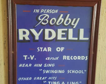 Antique Lobby Card 1950's Featuring Rock And Roll Teen Idol Bobby Rydell