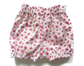 Girls bloomers, baby bloomers, girls shorts, toddler shorts, vintage inspired, floral bloomers, floral shorts, girls clothing, girls fashion