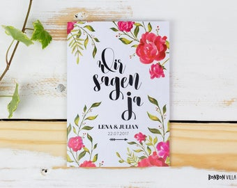 30 x wedding invitation * flourish *.
