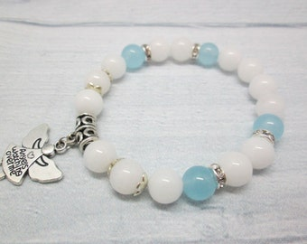 Bracelet bridesmaid Something blue For bride Bracelet with stone Bridesmaid bracelet Wedding bracelet Bridal bracelet Chalcedony Stones