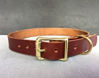 The Brown Leather Collar
