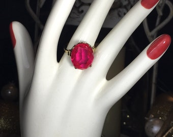 Vintage bold red ring