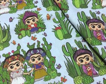 Frida Cacti 1/2 yd