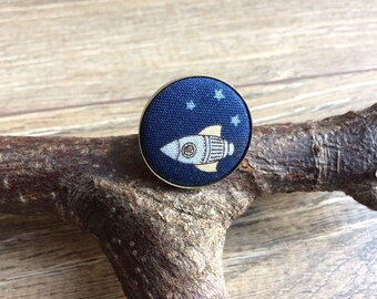 Rocket ring, rocket jewellery, rocket print, rocket gift, space gift, space ring, space jewellery, adjustable ring