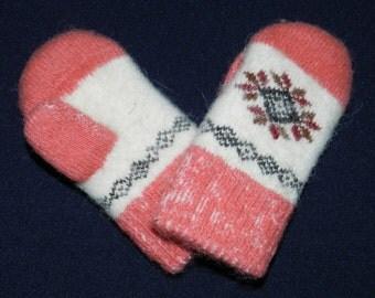 Mittens from angora wool, warm Mittens , knitted Mittens , children's mittens