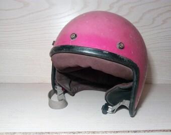 Vintage Motorcycle Helmet. Biker helmet .USSR motorcycle helmet .Steampunk hat