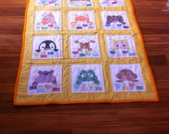 Beep a Boo baby quilt