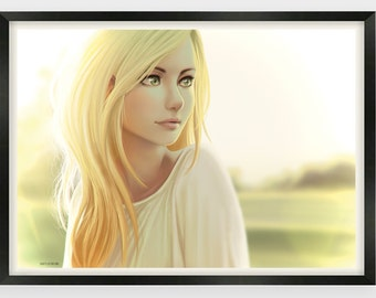 Glance - Digital Painting - Wall Art