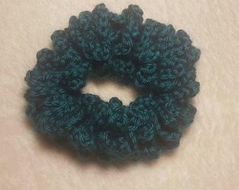 Teal Crochet Hair Scrunchy, Hair Tie, Scrunchies, Scunchi, Hair Accessories, Crochet  Scrunchi