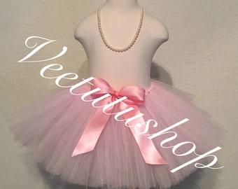 Light Pink Tutu, pink tutu, baby tutu, newborn tutu, toddler tutu, puffy tutu