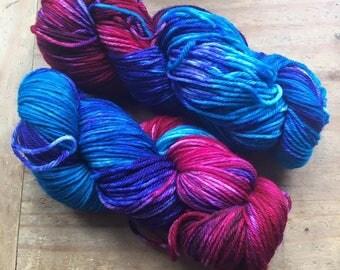 Red Sky ~ Hand Dyed Merino DK Yarn Wool