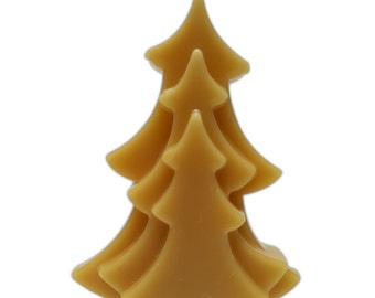 Christmas Tree Candle Pure Beeswax 15cm high