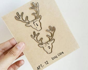 Majestic Stag Paper Clips
