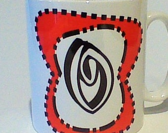 Monogram mug O free message on base by Tattoo Mug Dr Seuss inspired any letter you choose